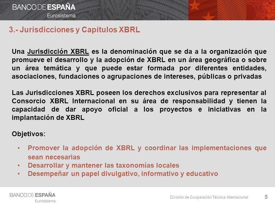 3.- Jurisdicciones y Capítulos XBRL