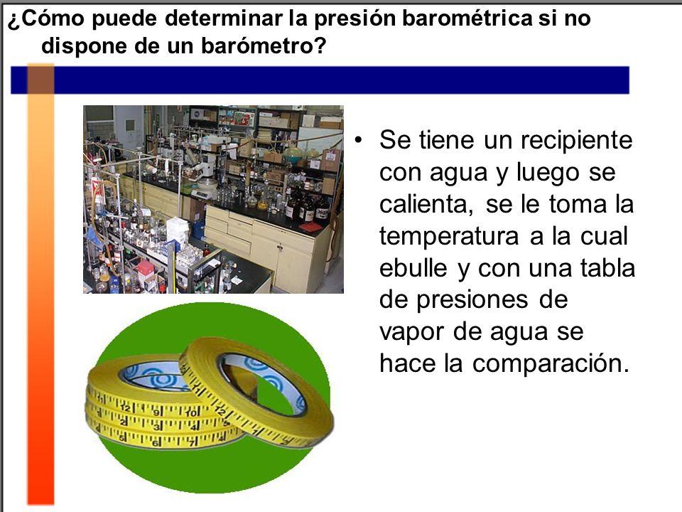 ¿Cómo puede determinar la presión barométrica si no dispone de un barómetro