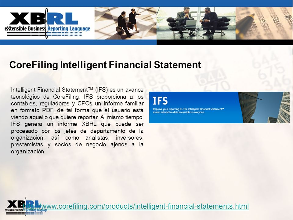 CoreFiling Intelligent Financial Statement