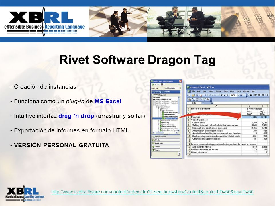 Rivet Software Dragon Tag