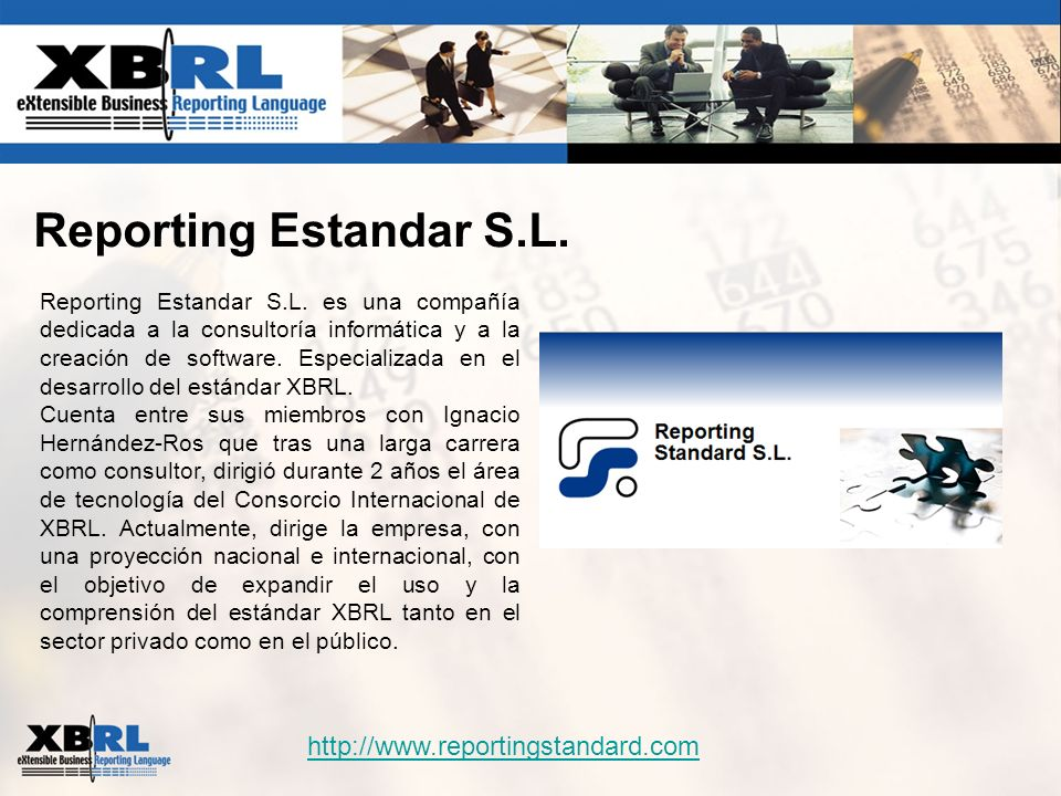 Reporting Estandar S.L. http://www.reportingstandard.com