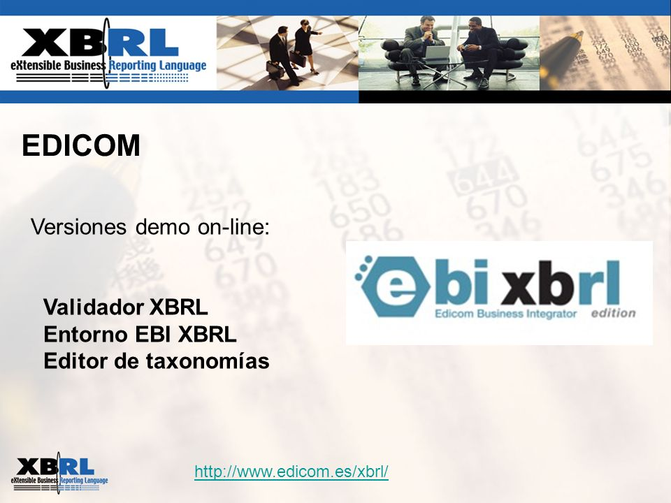 EDICOM Versiones demo on-line: Validador XBRL