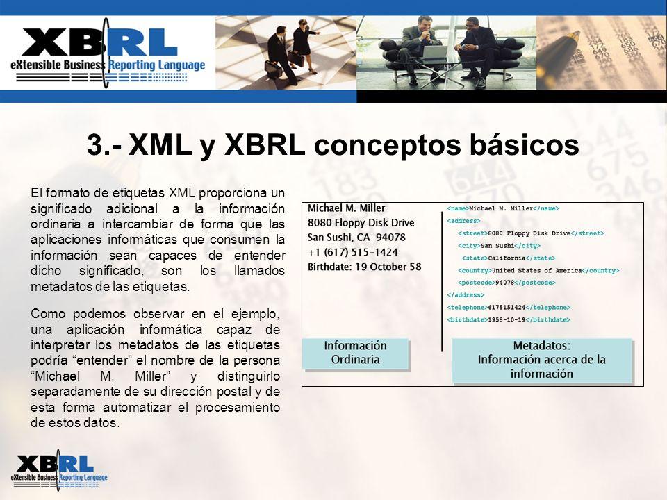 3.- XML y XBRL conceptos básicos