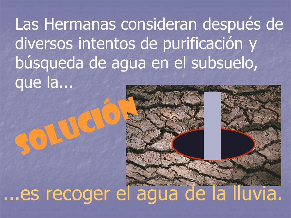 Solución ...es recoger el agua de la lluvia.
