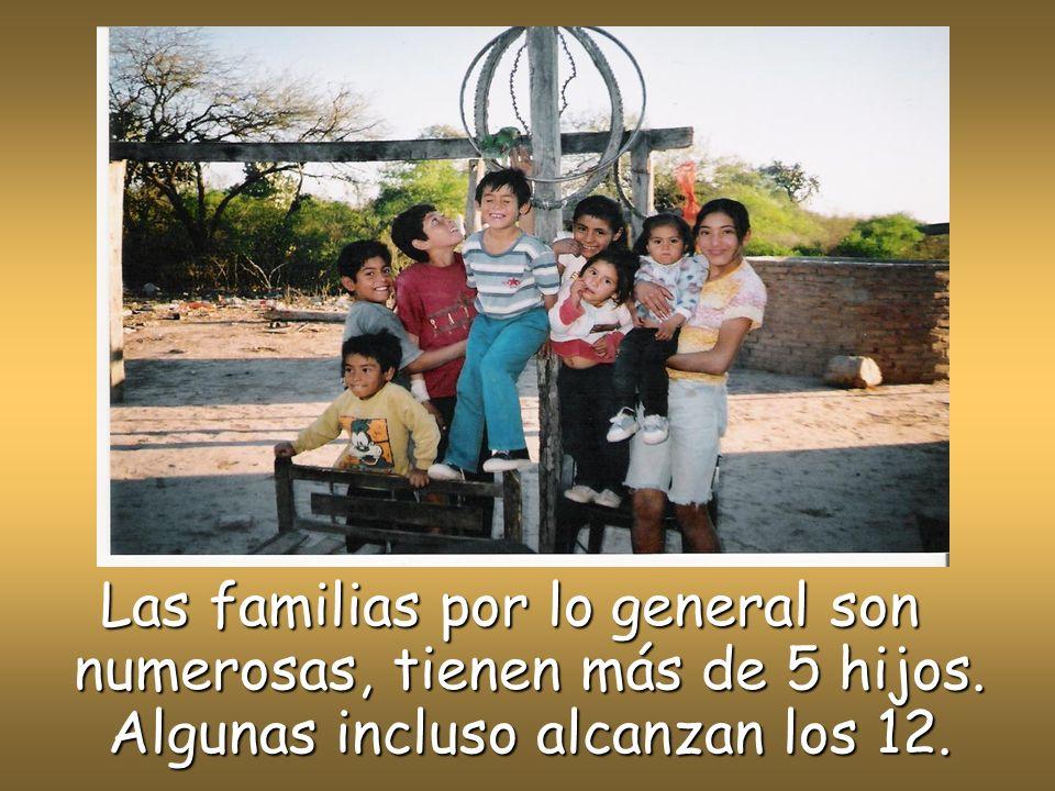 Las familias por lo general son numerosas, tienen más de 5 hijos
