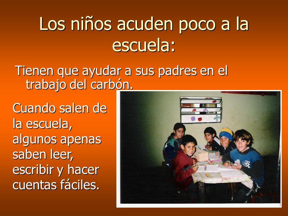 Los niños acuden poco a la escuela:
