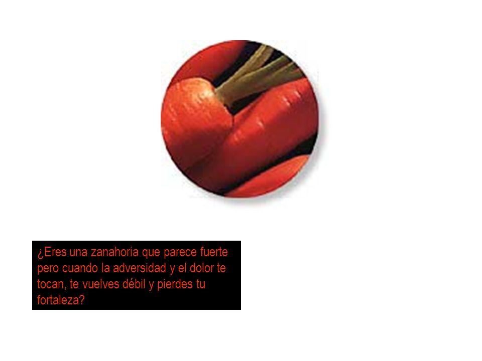 ¿Eres una zanahoria que parece fuerte pero cuando la adversidad y el dolor te tocan, te vuelves débil y pierdes tu fortaleza