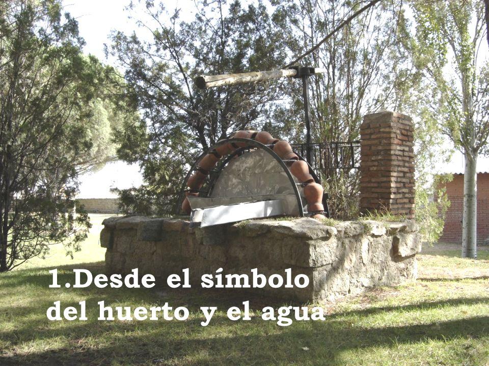 Desde el símbolo del huerto y el agua