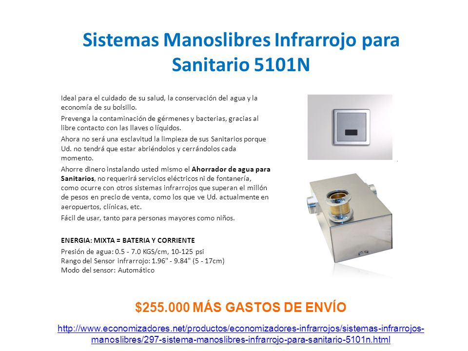 Sistemas Manoslibres Infrarrojo para Sanitario 5101N
