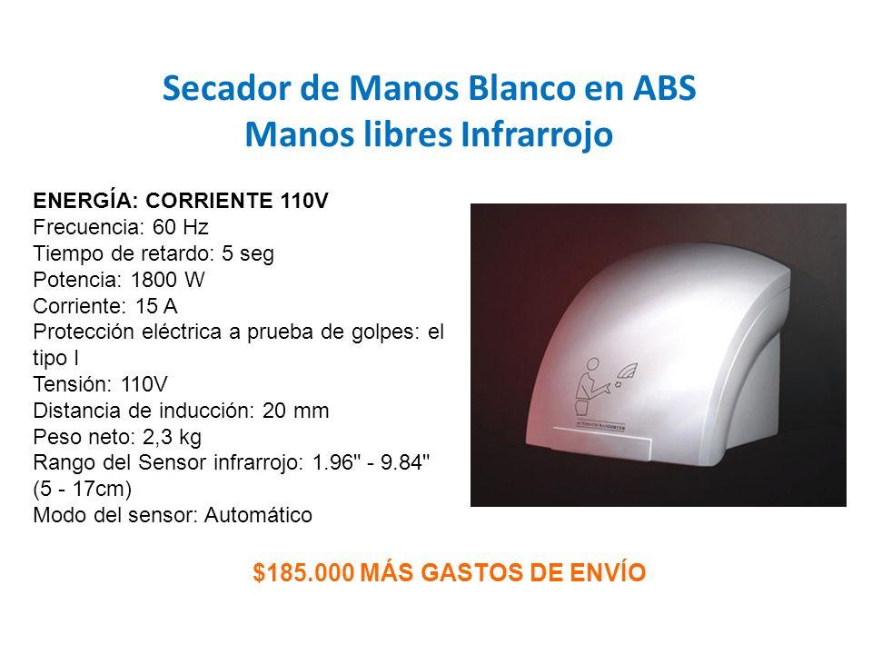 Secador de Manos Blanco en ABS Manos libres Infrarrojo