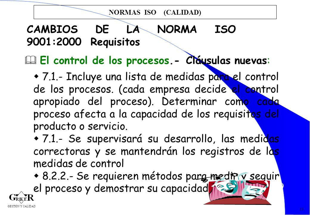 CAMBIOS DE LA NORMA ISO 9001:2000 Requisitos