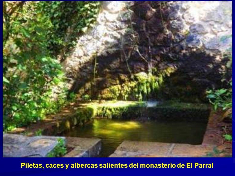 Piletas, caces y albercas salientes del monasterio de El Parral