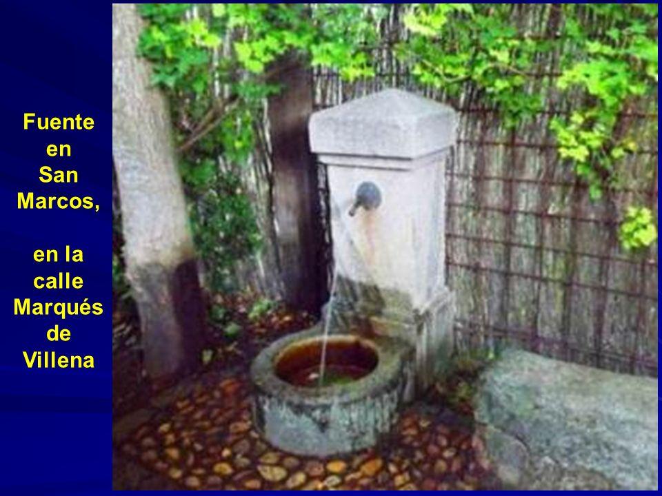 Fuente en San Marcos, en la calle Marqués de Villena