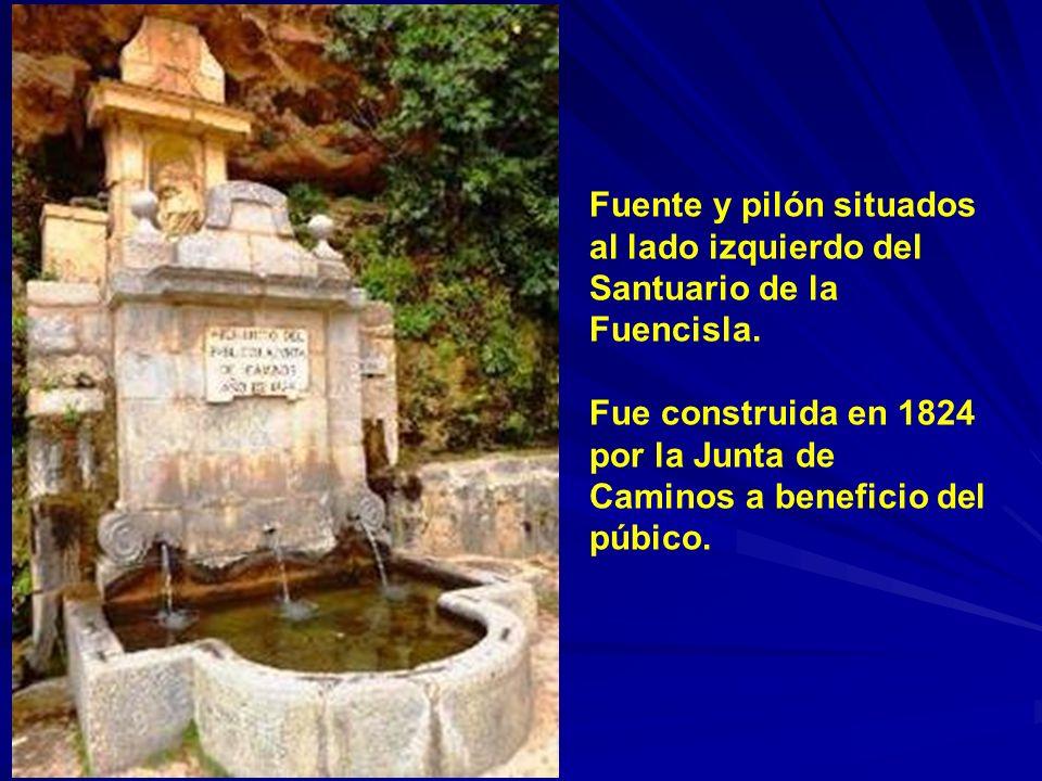 Fuente y pilón situados al lado izquierdo del Santuario de la Fuencisla.