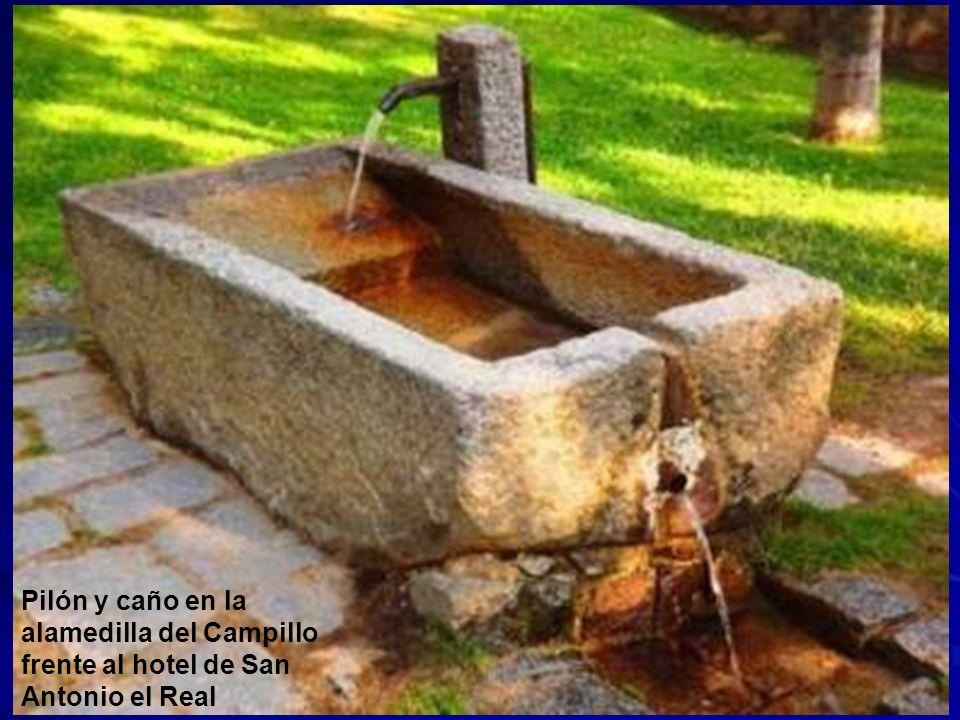 Pilón y caño en la alamedilla del Campillo frente al hotel de San Antonio el Real