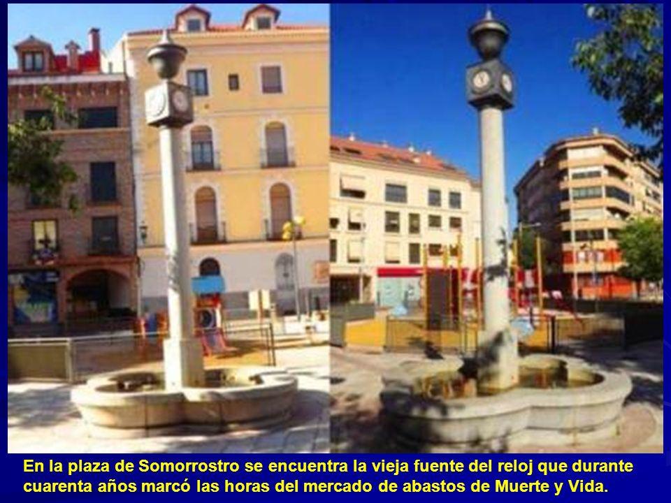 En la plaza de Somorrostro se encuentra la vieja fuente del reloj que durante cuarenta años marcó las horas del mercado de abastos de Muerte y Vida.