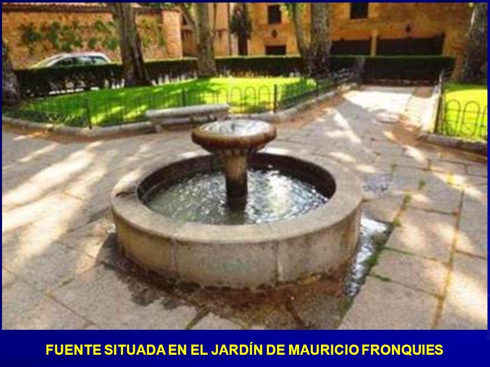 FUENTE SITUADA EN EL JARDÍN DE MAURICIO FRONQUIES