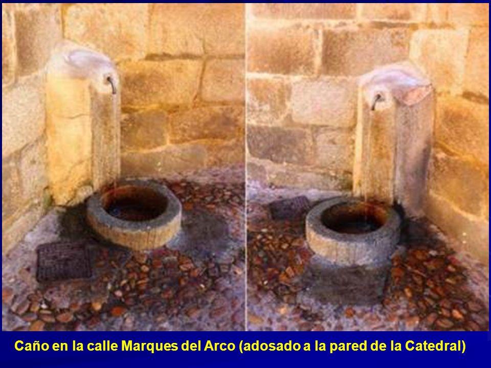 Caño en la calle Marques del Arco (adosado a la pared de la Catedral)