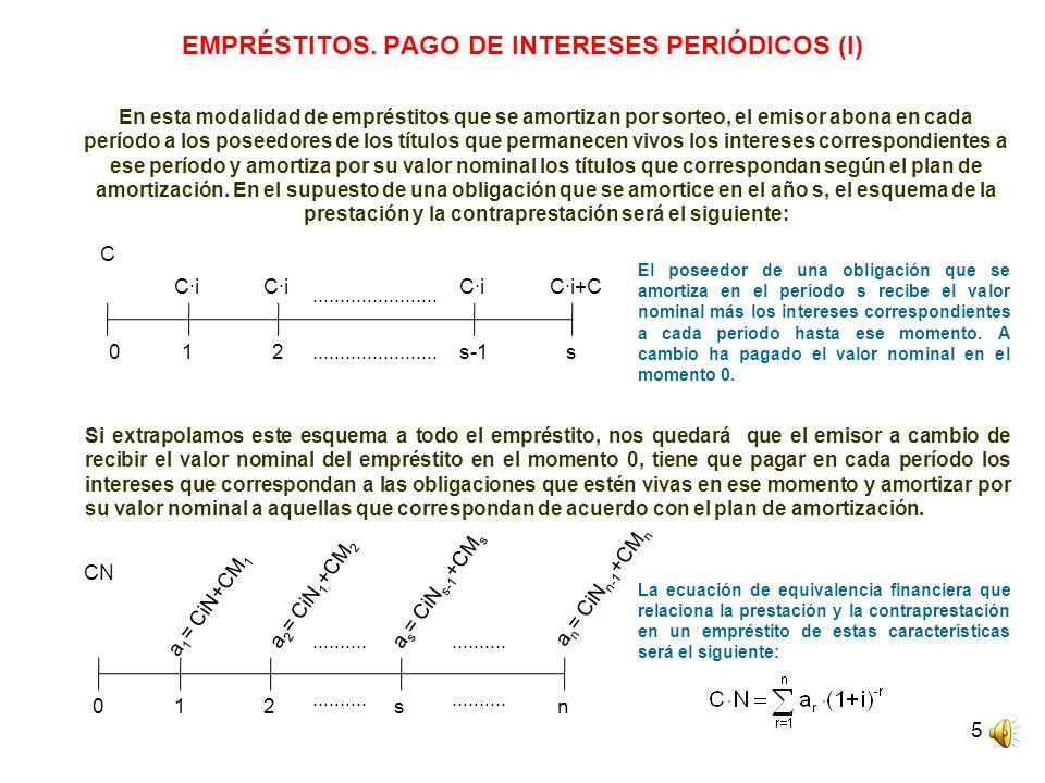 EMPRÉSTITOS. PAGO DE INTERESES PERIÓDICOS (I)