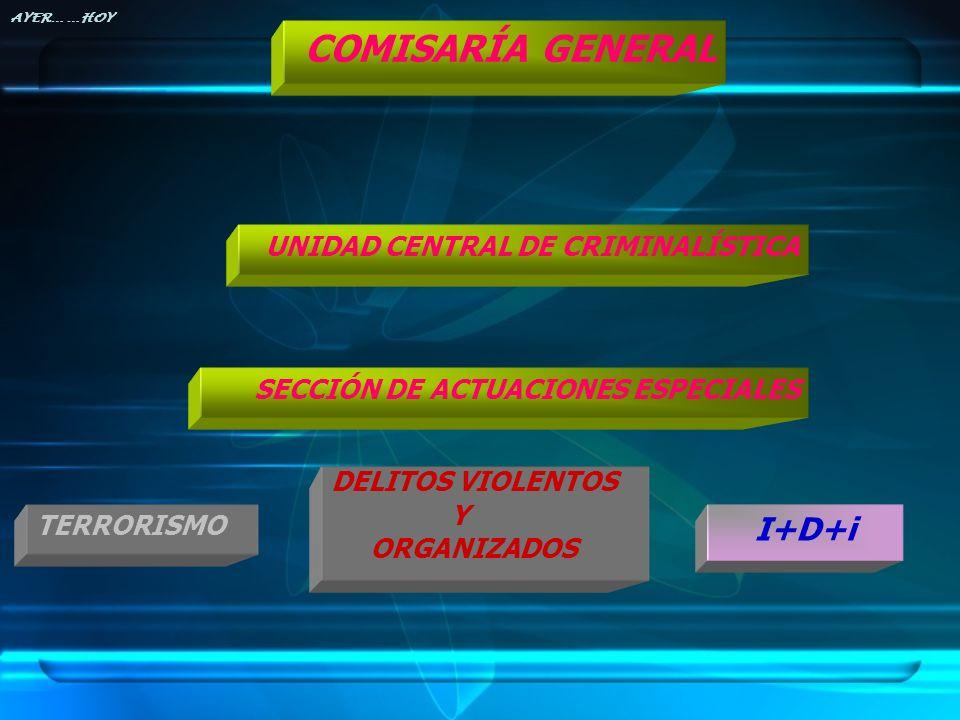 COMISARÍA GENERAL I+D+i UNIDAD CENTRAL DE CRIMINALÍSTICA