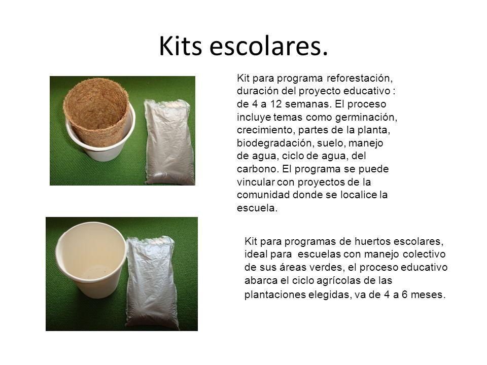 Kits escolares.