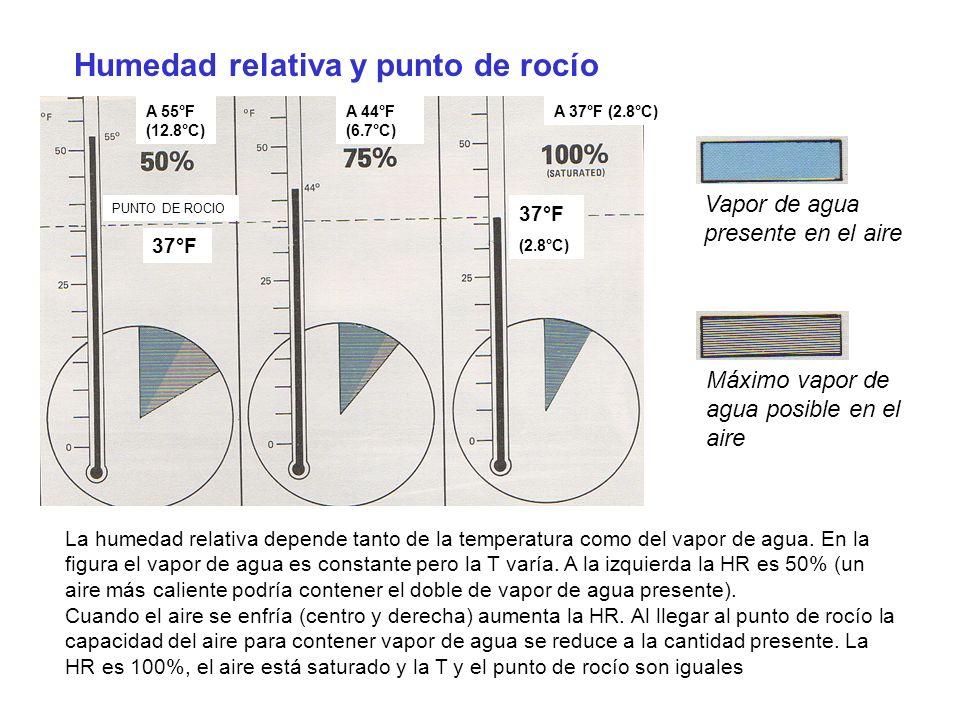 Humedad relativa y punto de rocío