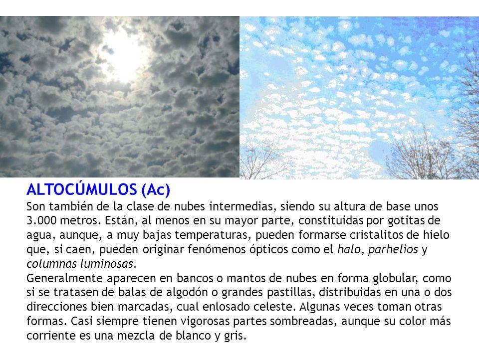 ALTOCÚMULOS (Ac)