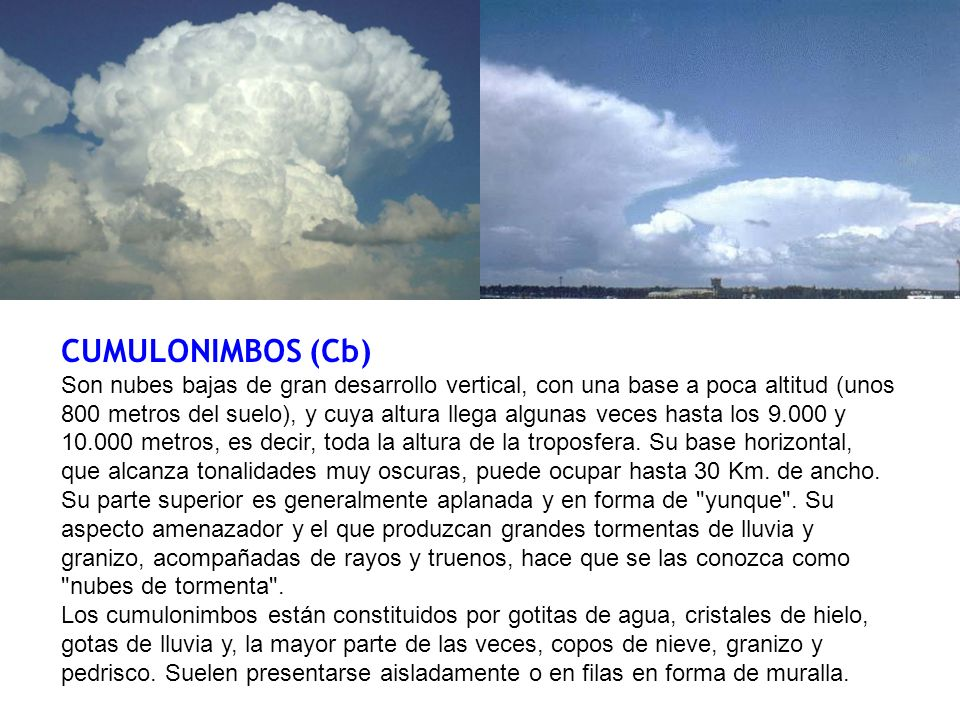 CUMULONIMBOS (Cb)