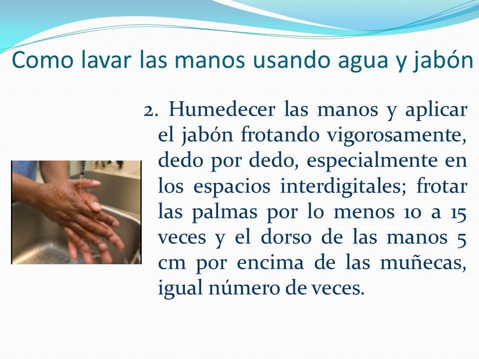 Como lavar las manos usando agua y jabón