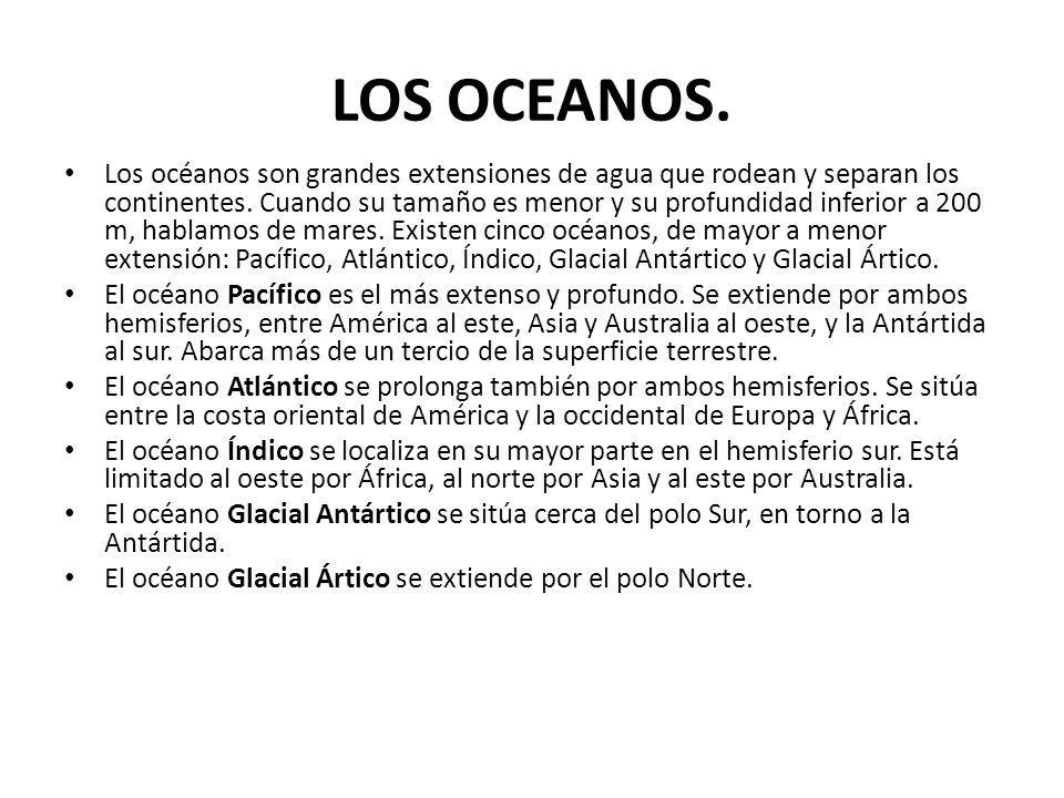 LOS OCEANOS.