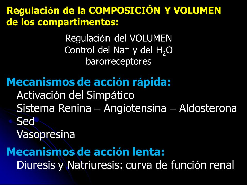 Regulación del VOLUMEN