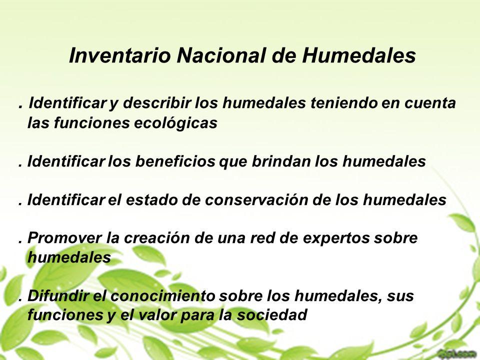 Inventario Nacional de Humedales