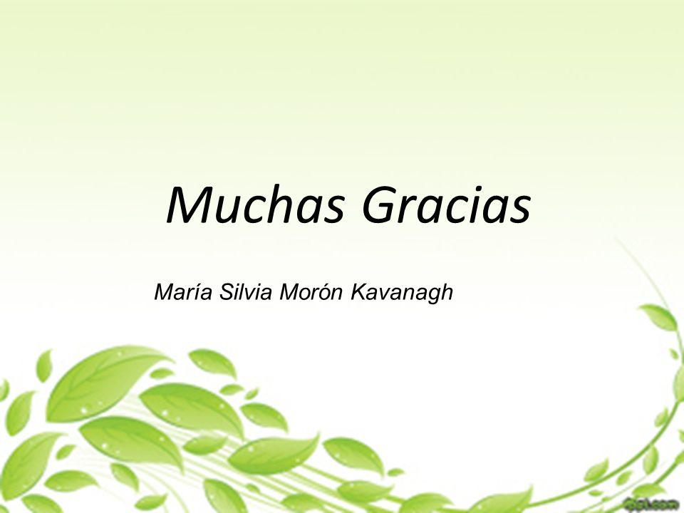 Muchas Gracias María Silvia Morón Kavanagh