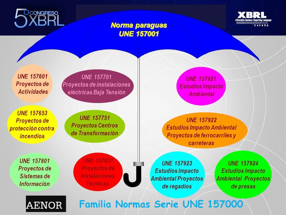 Familia Normas Serie UNE 157000