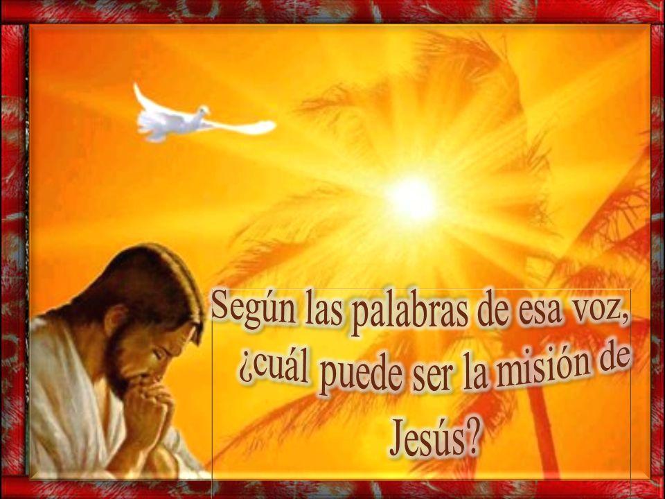 Según las palabras de esa voz, ¿cuál puede ser la misión de Jesús