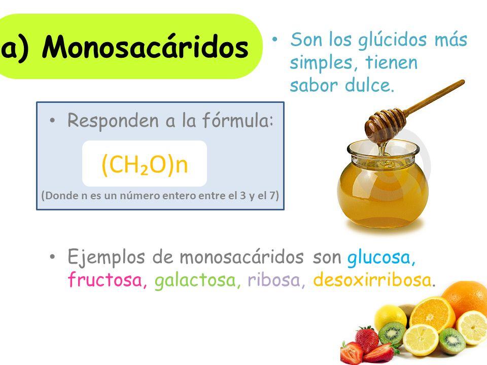 a) Monosacáridos (CH₂O)n