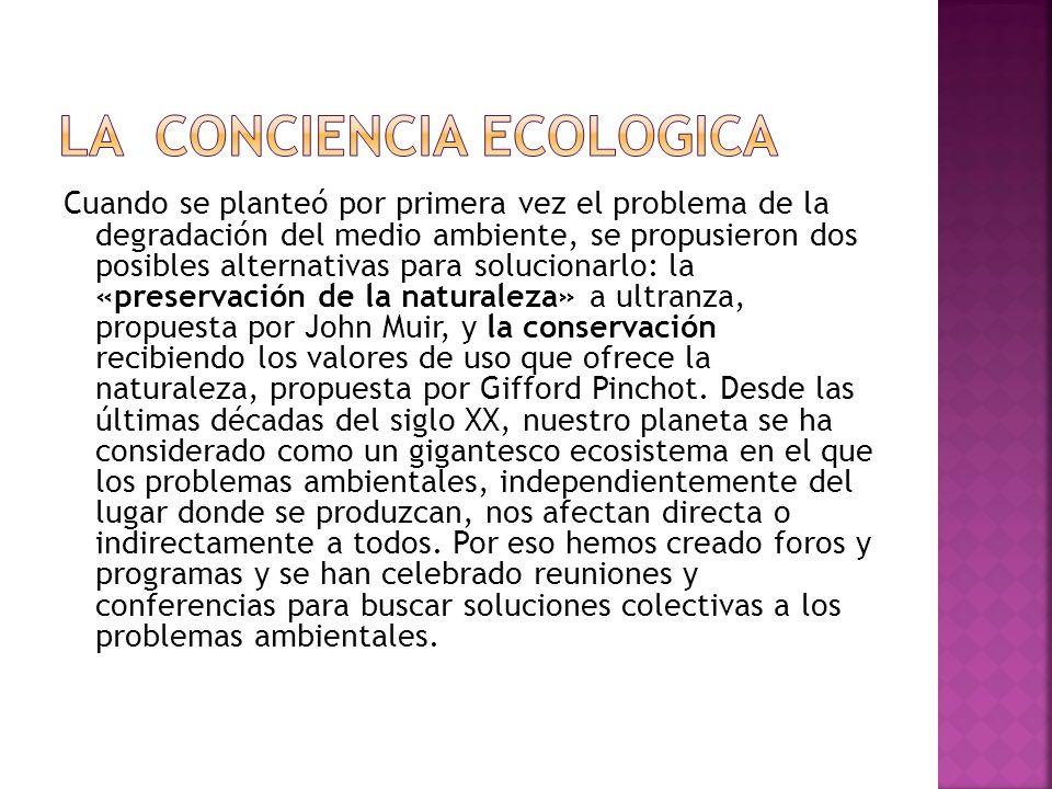 LA CONCIENCIA ECOLOGICA