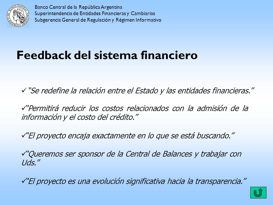Feedback del sistema financiero