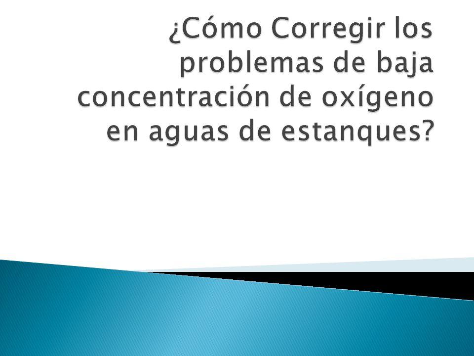 ¿Cómo Corregir los problemas de baja concentración de oxígeno en aguas de estanques