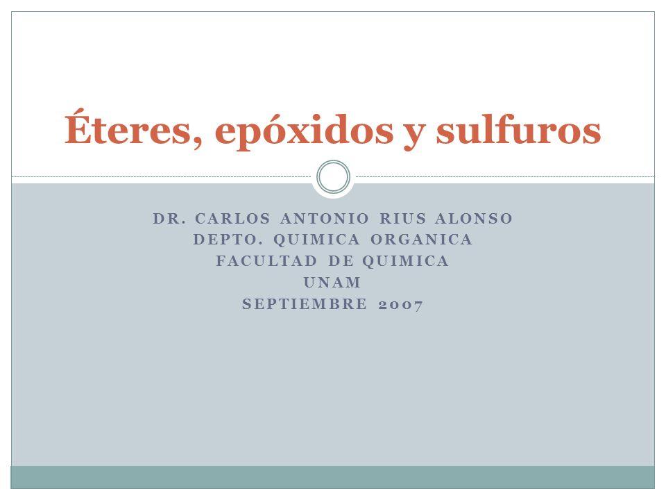 Éteres, epóxidos y sulfuros