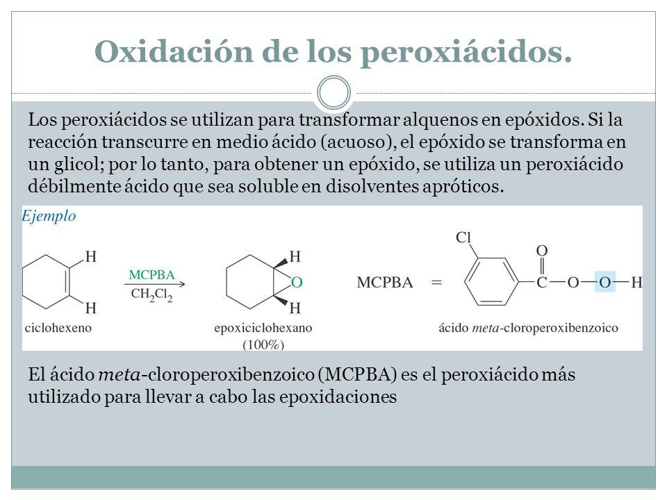 Oxidación de los peroxiácidos.