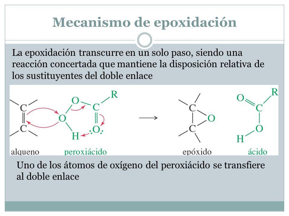 Mecanismo de epoxidación