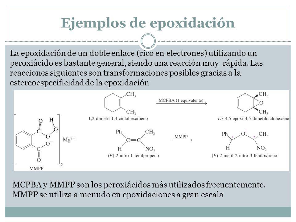 Ejemplos de epoxidación