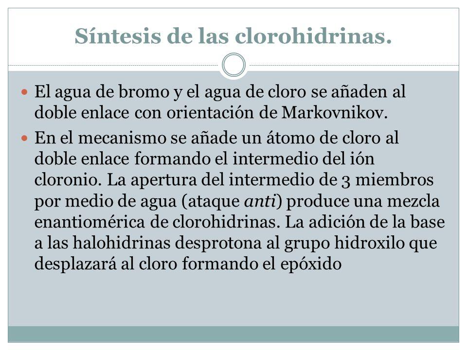 Síntesis de las clorohidrinas.