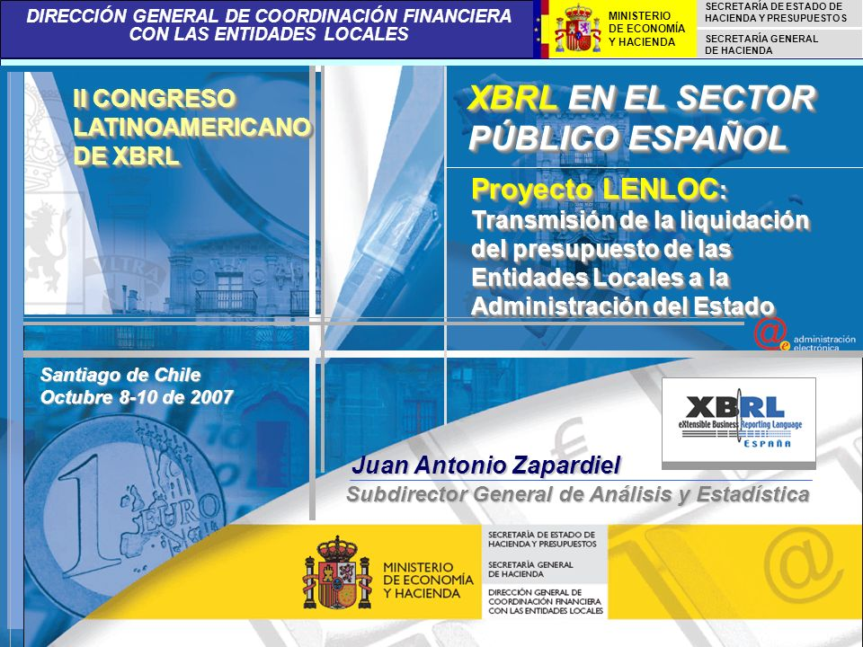 XBRL EN EL SECTOR PÚBLICO ESPAÑOL