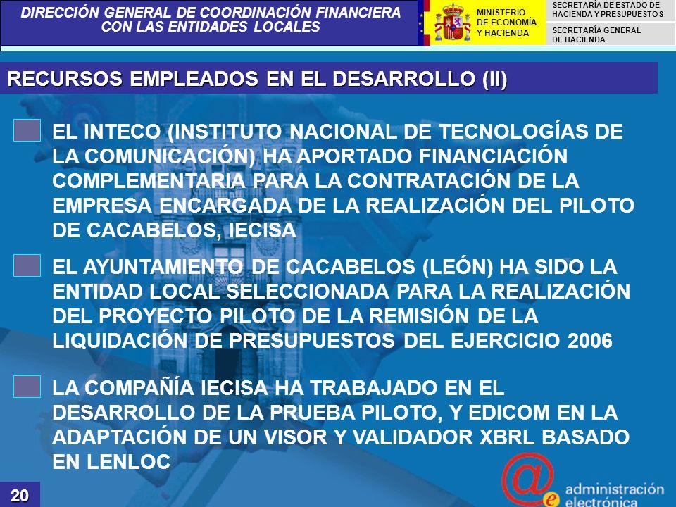 RECURSOS EMPLEADOS EN EL DESARROLLO (II)