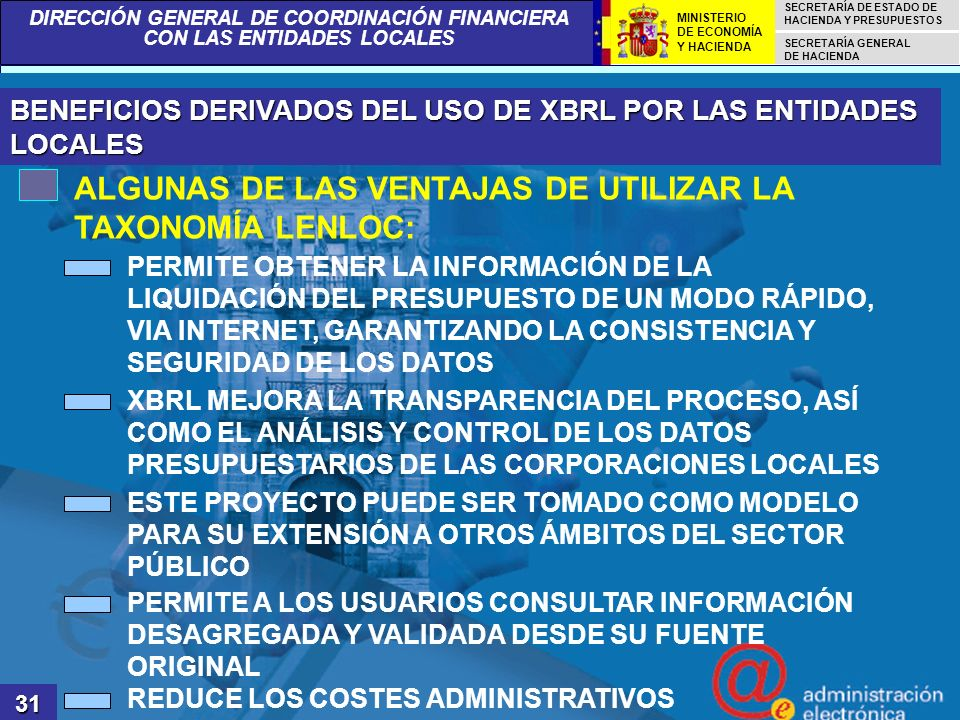 ALGUNAS DE LAS VENTAJAS DE UTILIZAR LA TAXONOMÍA LENLOC: