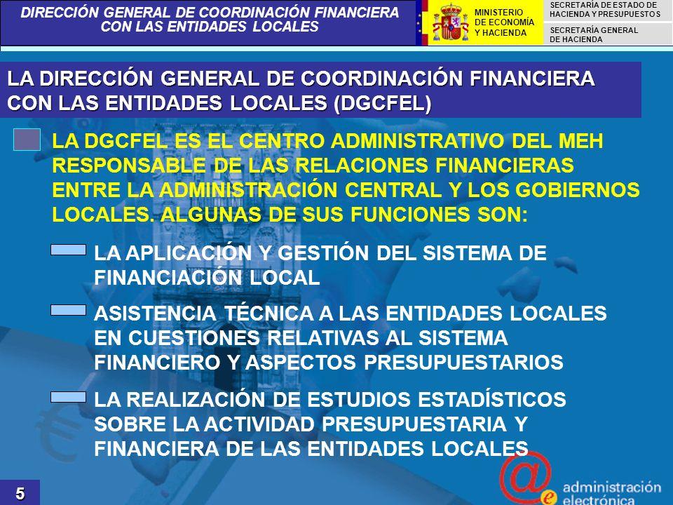 LA APLICACIÓN Y GESTIÓN DEL SISTEMA DE FINANCIACIÓN LOCAL