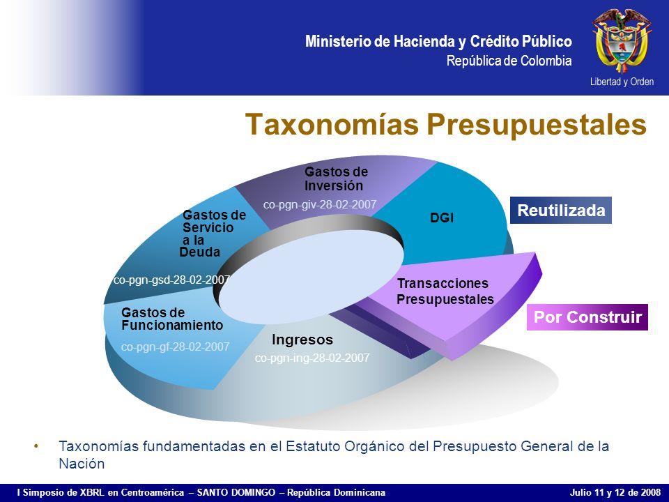 Taxonomías Presupuestales
