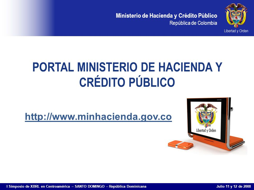 PORTAL MINISTERIO DE HACIENDA Y CRÉDITO PÚBLICO